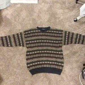 Mens winter striped sweater